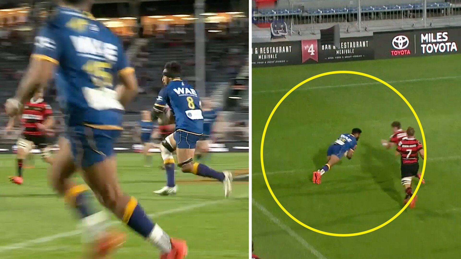 Otago run in one of the tries of the season in stupendous show of skill in Mitre 10 Cup