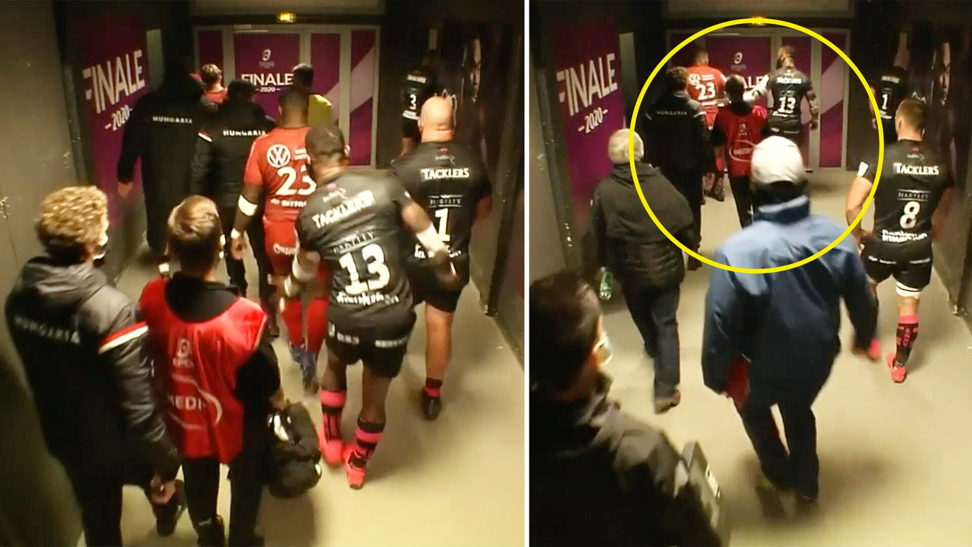 Challenge Cup final gets heated as players clash in the tunnel at half time