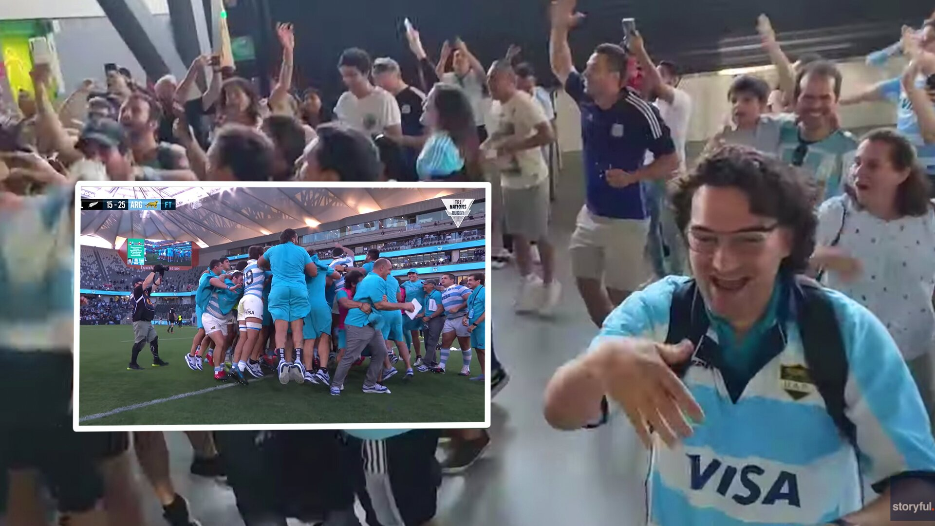 Argentina fans across globe lose their minds as Pumas beat All Blacks for first time