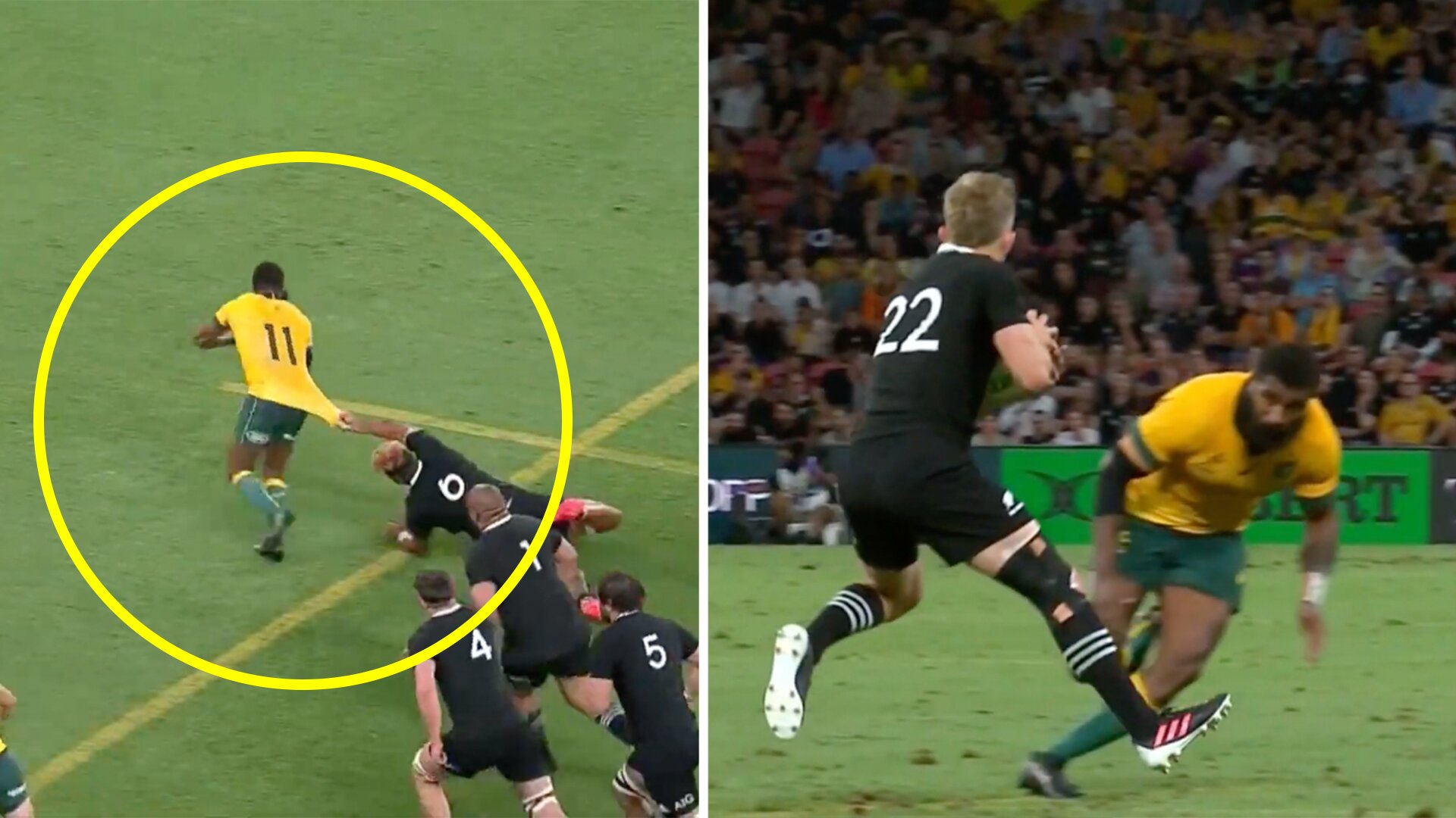 New video reveals how incredibe Marika Koroibete was against New Zealand