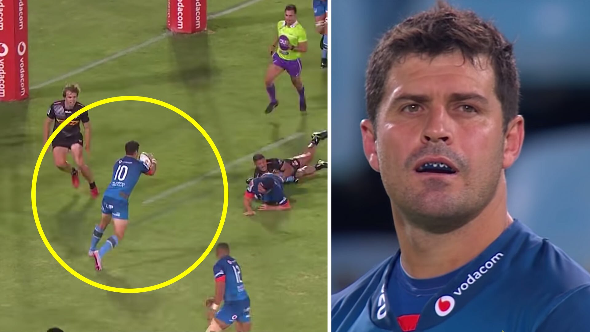 Morne Steyn is the best player on the pitch at 37 with ridiculous skill to set up monster try