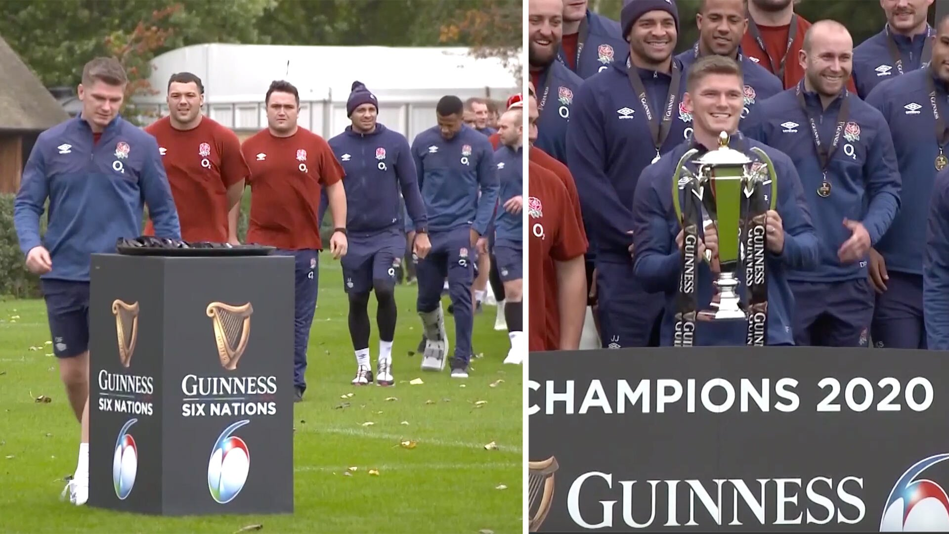 England have just released their surreal Six Nations trophy ceremony