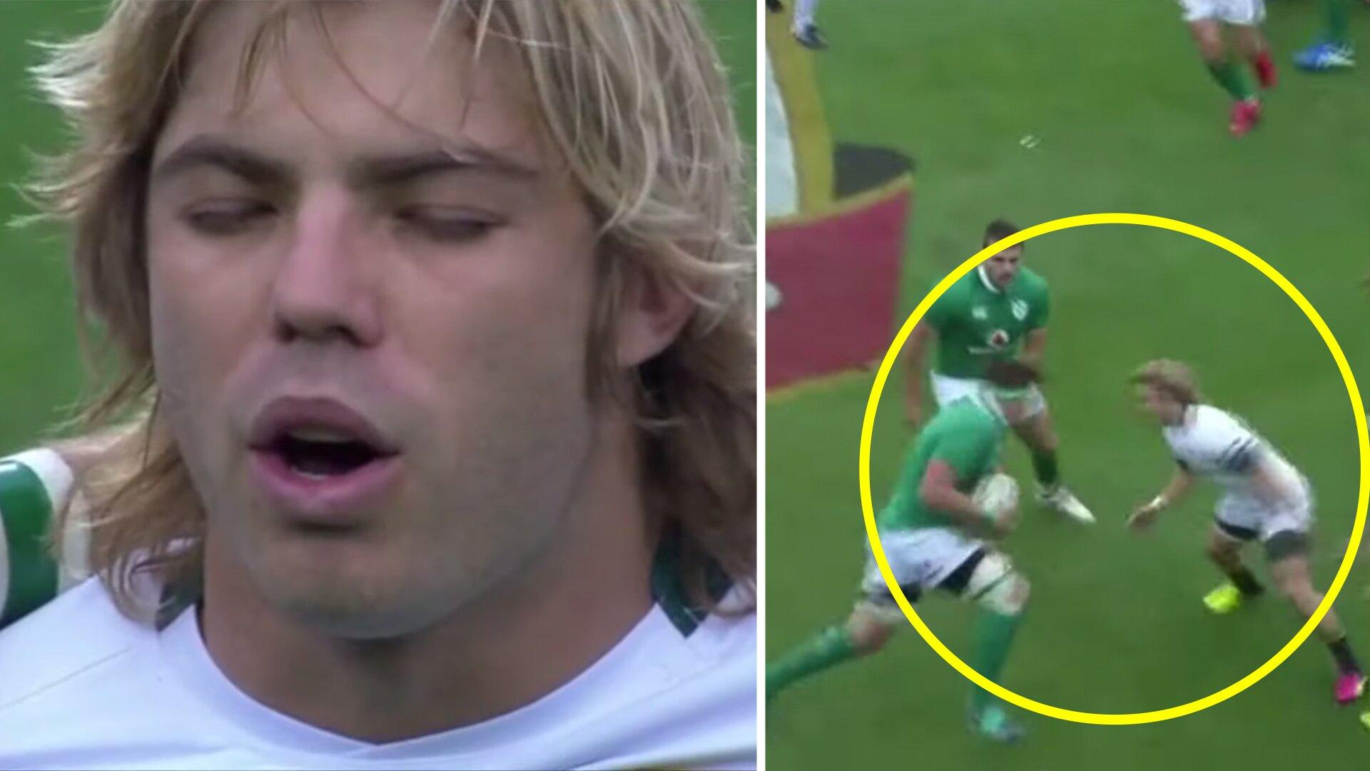 Footage of Faf de Klerk's debut has been released showing just how poor the Springboks used to be