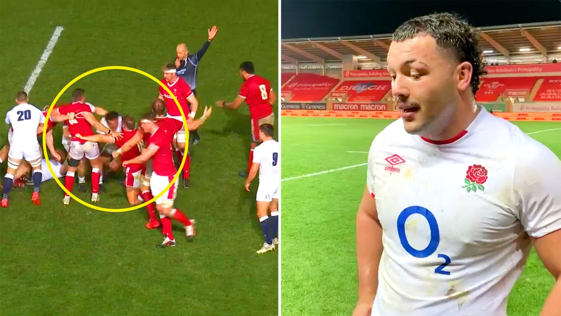 Ellis Genge gives post-match response after claims of head-butt against Wales