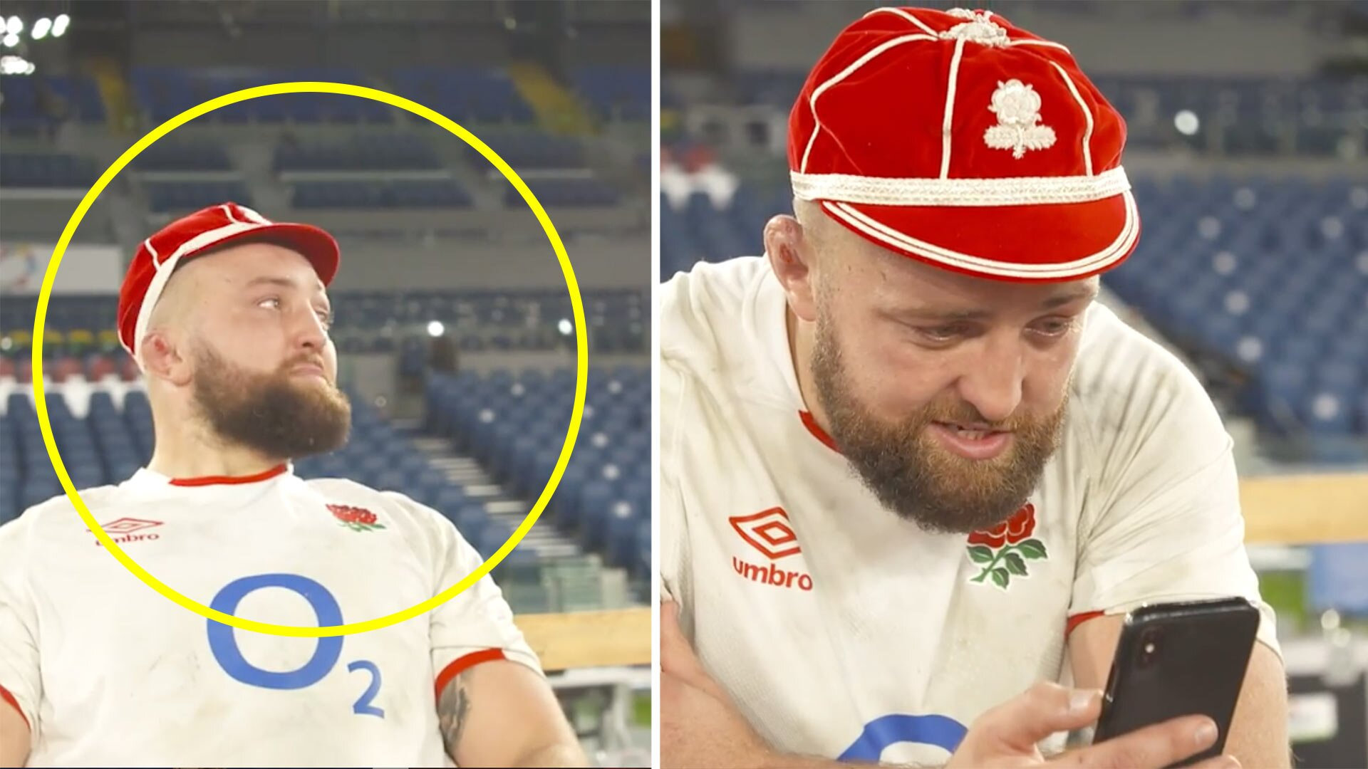 Emotional video of England rugby player calling his family after winning his first cap is going viral online