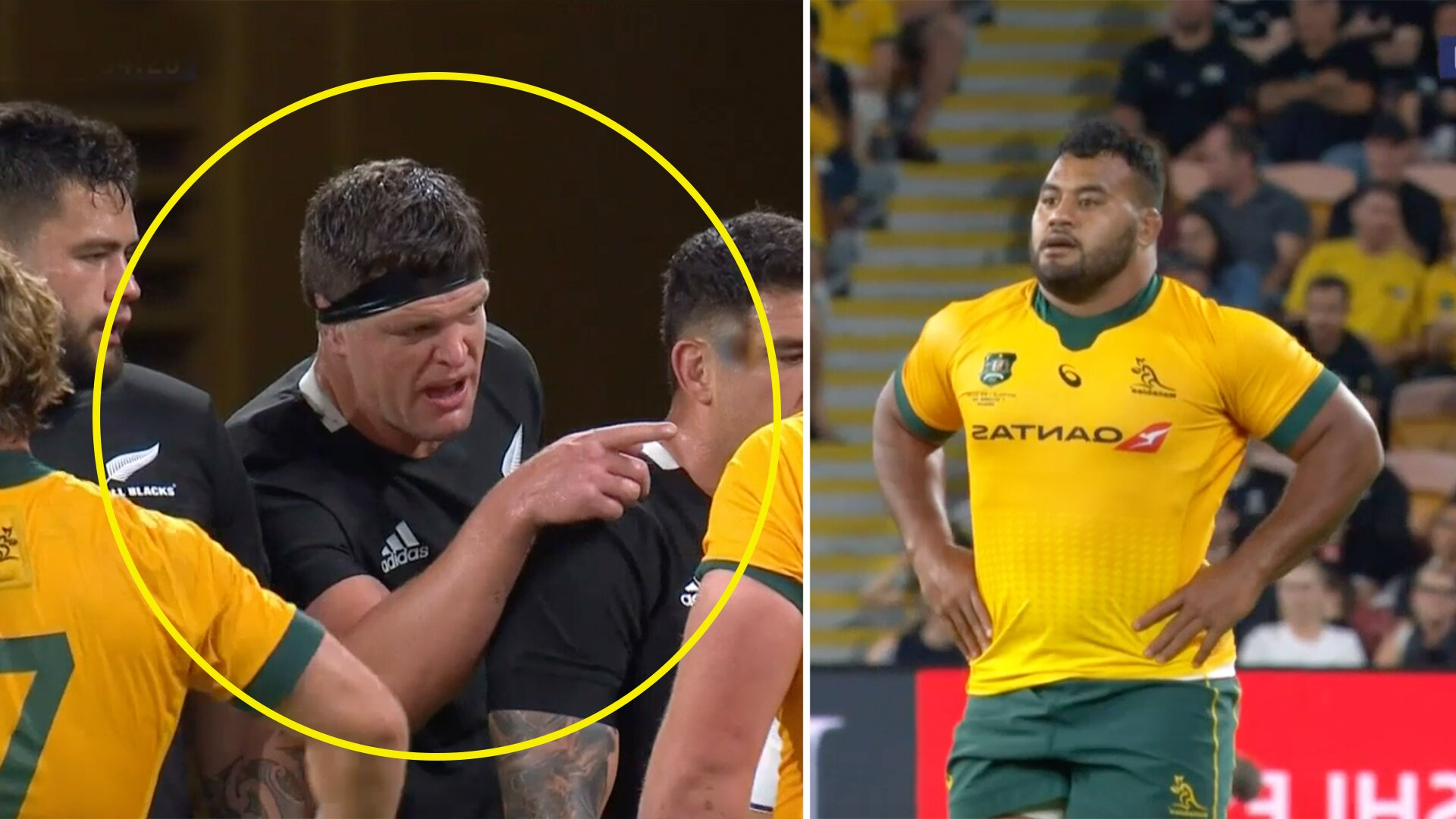 The bizarre moment in which Barrett tried to get Tupou sent off for not wearing a gumshield has emerged