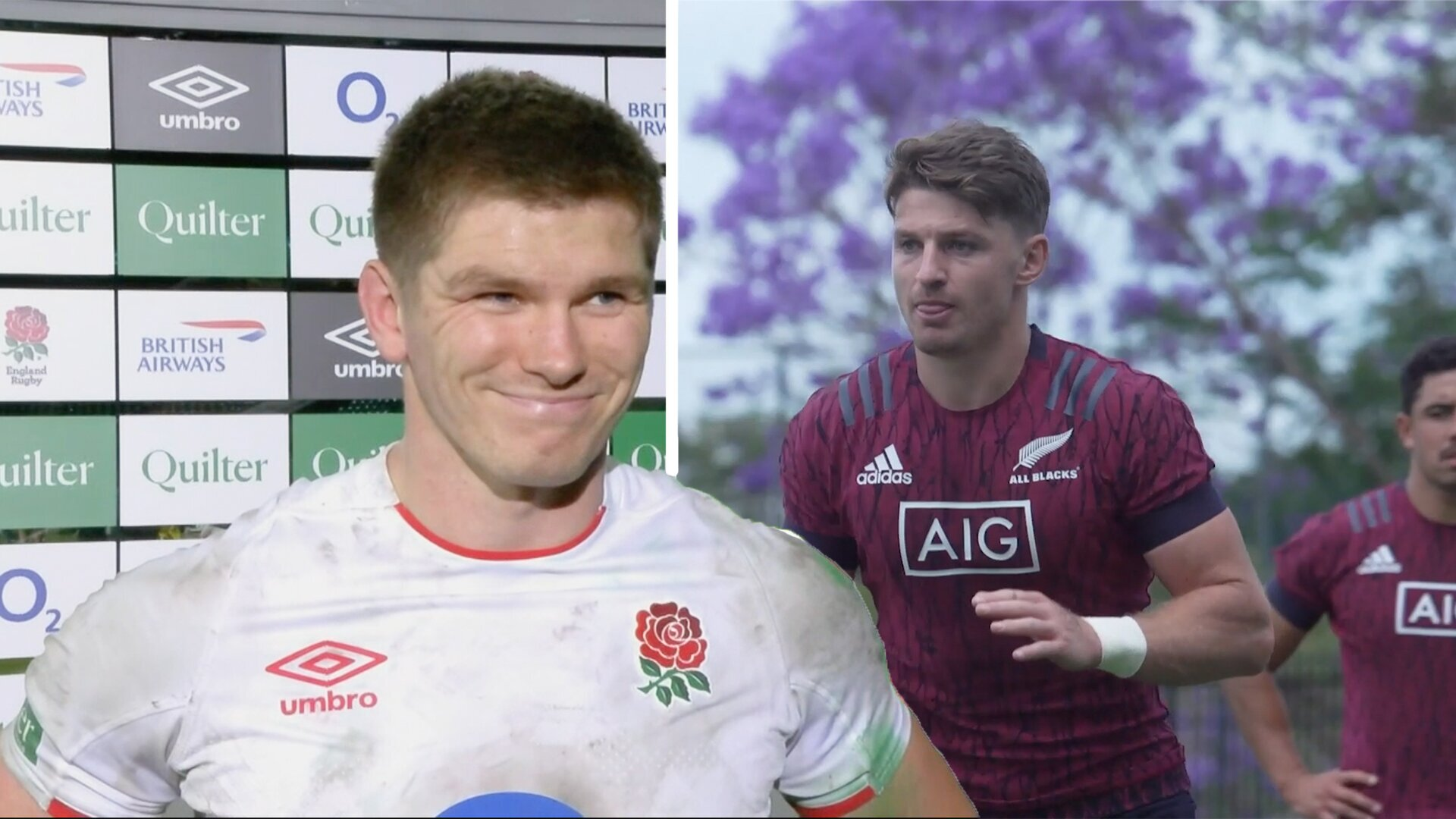 New Zealand rugby players can't help but heap praise on England rugby in rare video