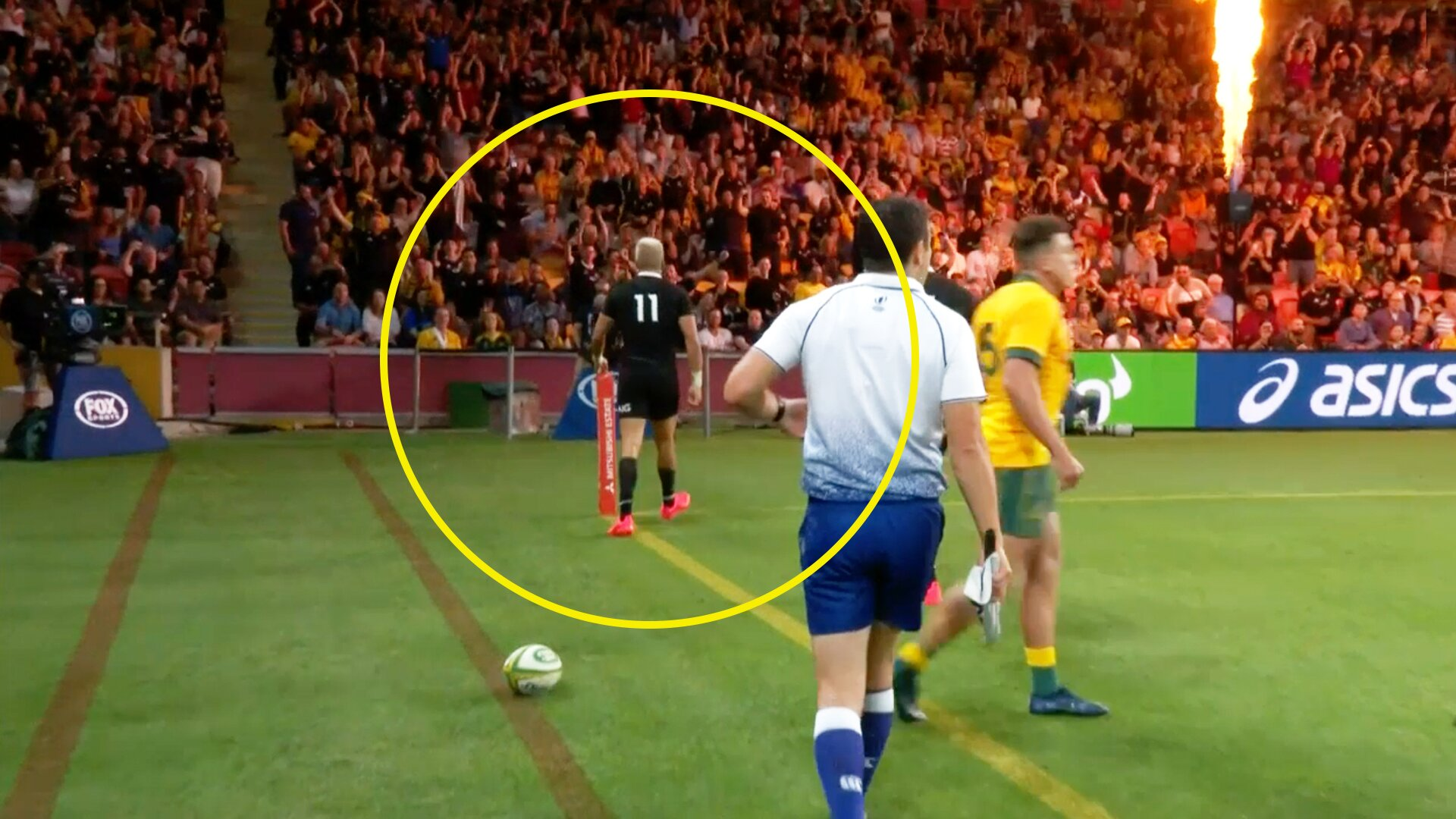 Fans furious with Rieko Ioane after controversial try celebration in today's Tri Nations clash
