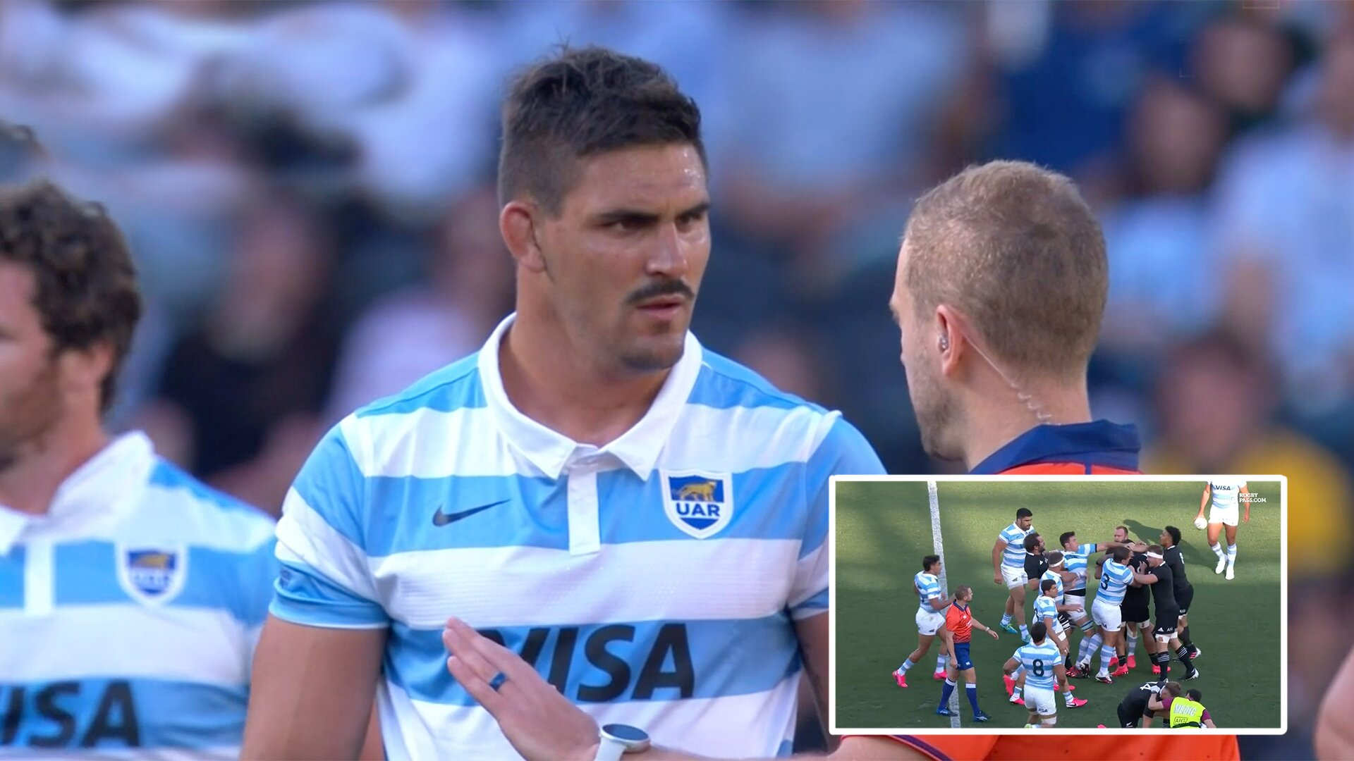 'They're kicking my guys. They show no respect.' Pumas captain is new national hero after intense opening exchanges in today's shock upset