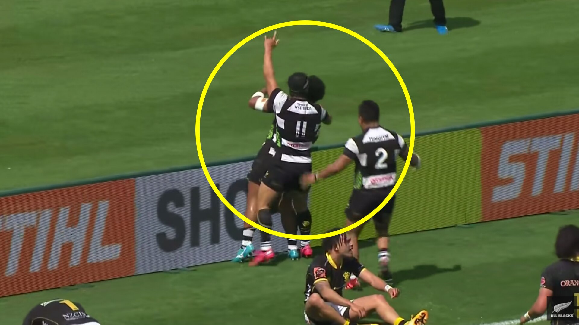 One of the tries of the season was scored in New Zealand this weekend
