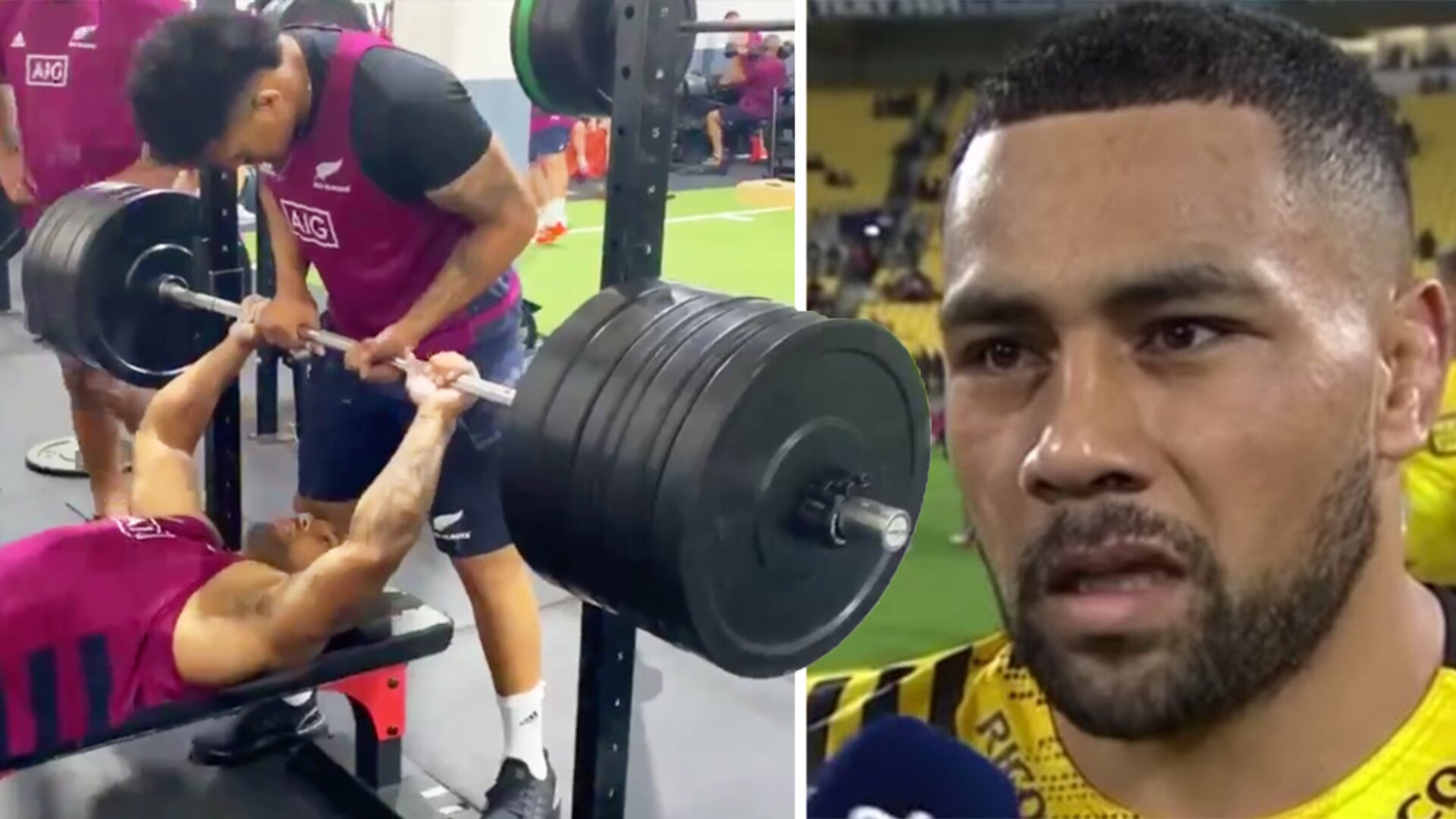 The incredible weight that Ngani Laumape is lifting in the gym for the All Blacks