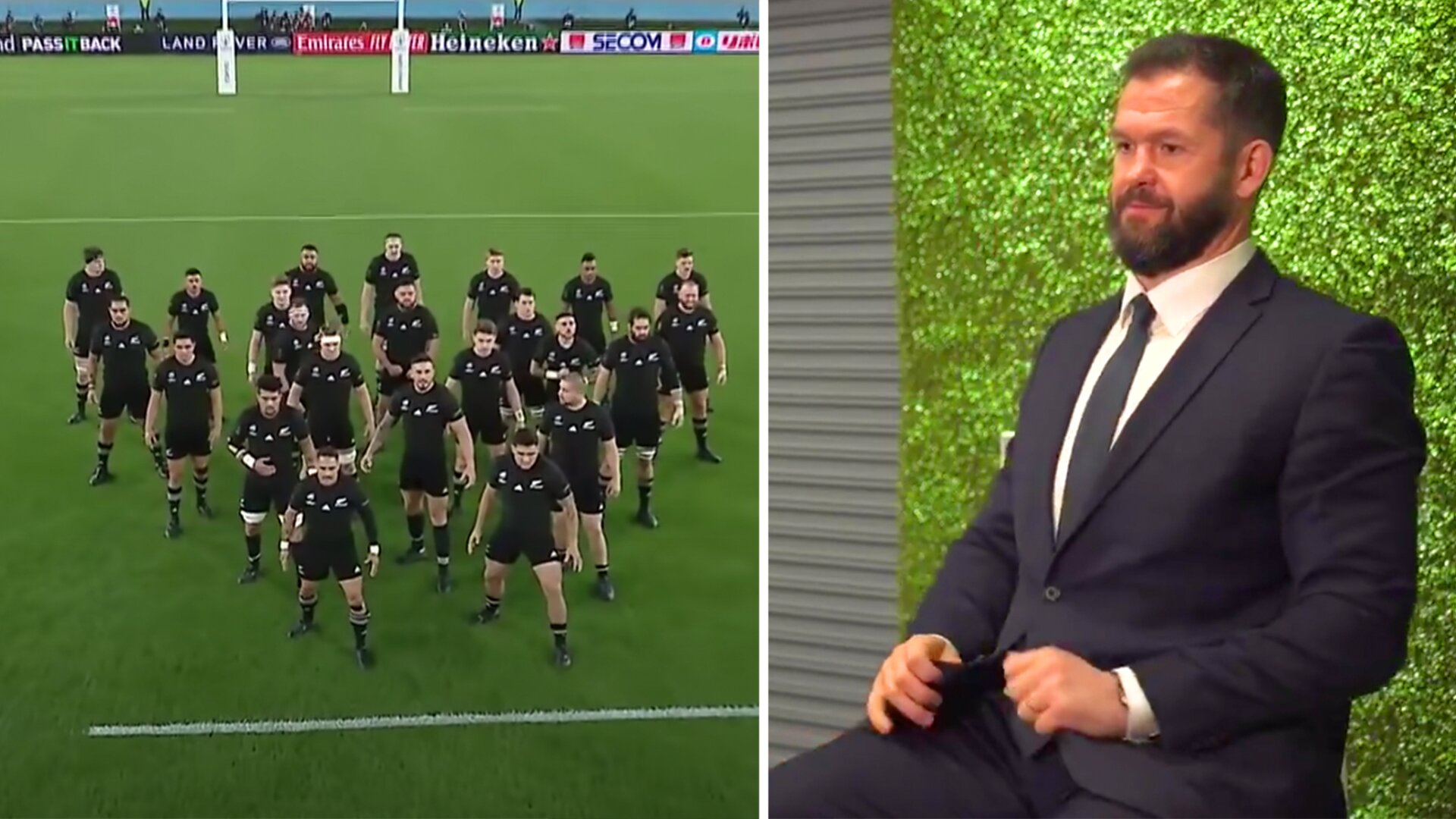 Andy Farrell can't hide his emotions with reaction to Rugby World Cup draw - Possible All Black quarter final