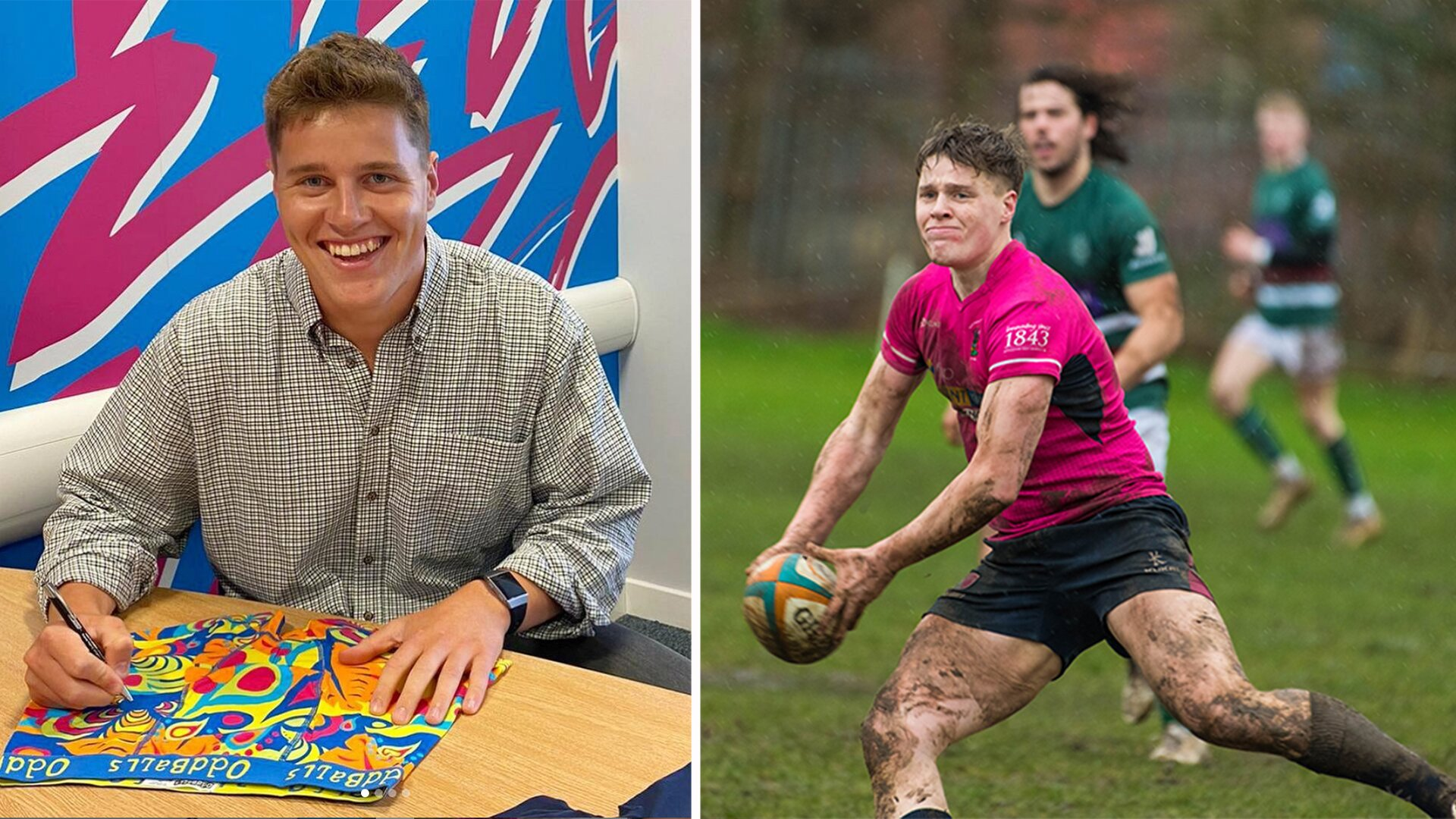Outpouring of tributes for young rugby player Tom Miller who dies tragically just as he signs for professional club