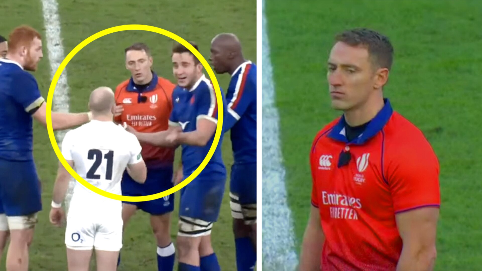 Internet disgusted as England vs France referee Andrew Brace has to be replaced this weekend for his own safety