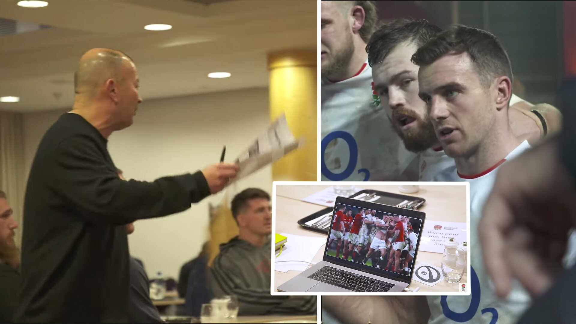 New video shows Eddie Jones playing  anti-England song to players in build up to Wales clash