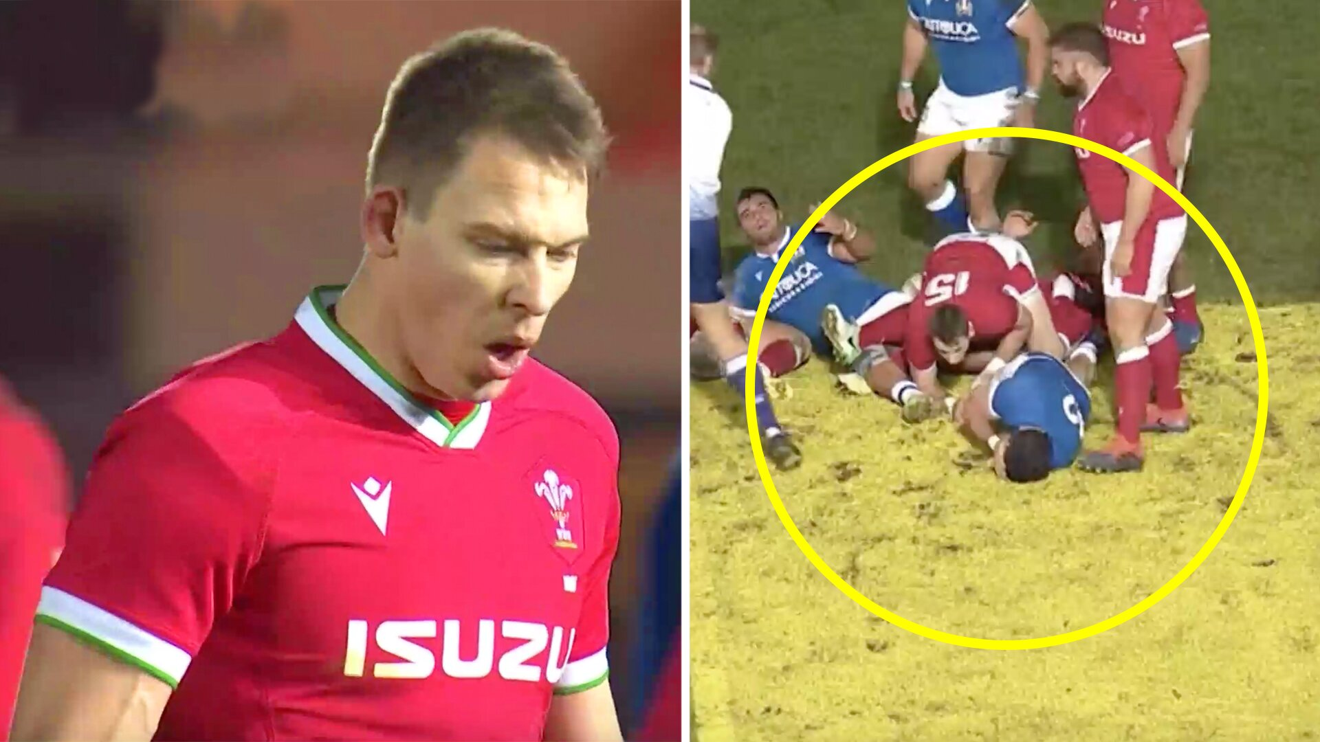 Liam Williams is being praised for a horrendous dog hit against Italy in the Autumn Nations cup