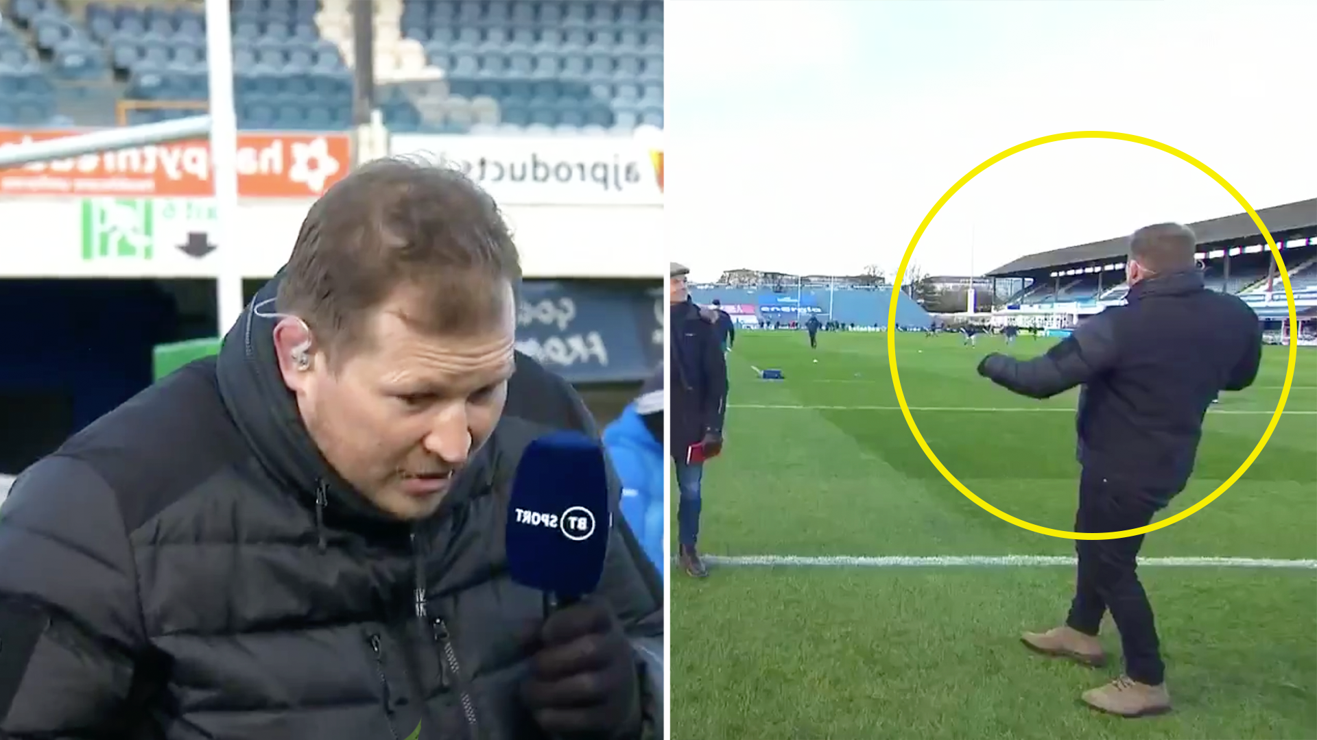 Tensions fray as Leinster players jokingly kick balls at Dylan Hartley during warm up