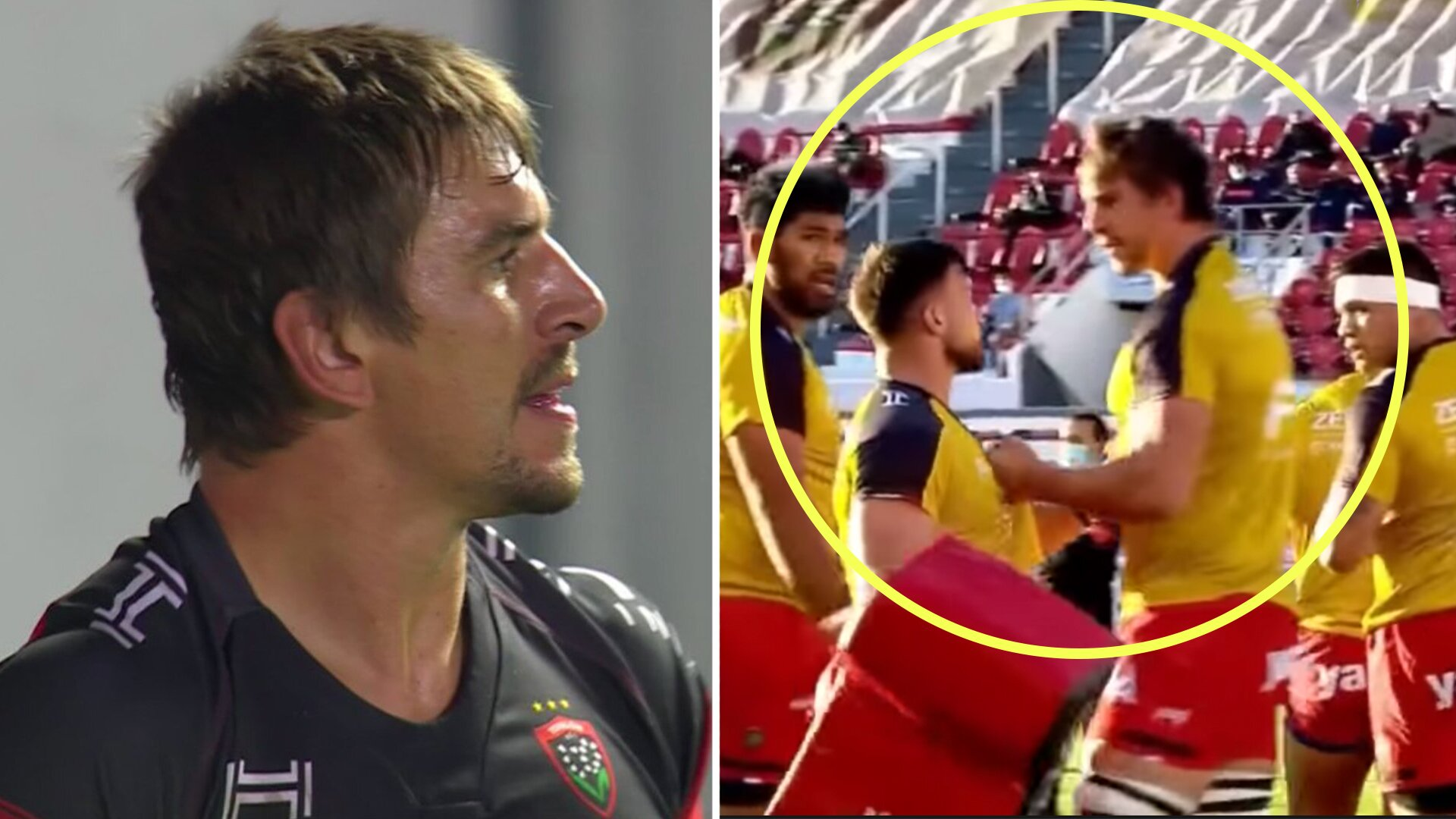 Shocking footage emerges of Eben Etzebeth fighting his own teammate before Champions Cup match