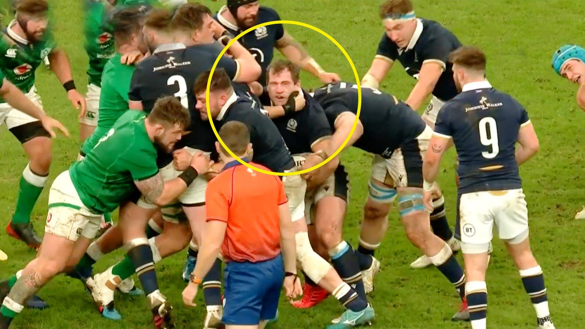 Eye gouge allegations mar Ireland vs Scotland clash in Dublin