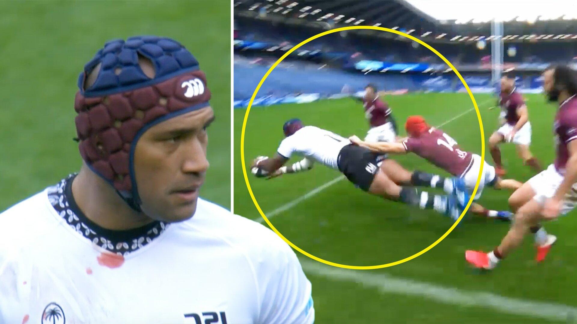 Nemani Nadolo takes 72 seconds to score as Fiji terrorise Georgian defence