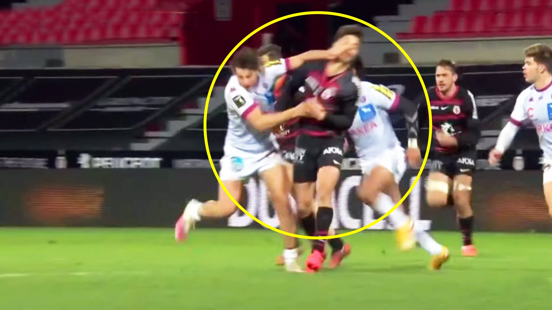 Revolting footage emerges of Romain Ntamack's horror jaw break from this weekend's Top 14 clash