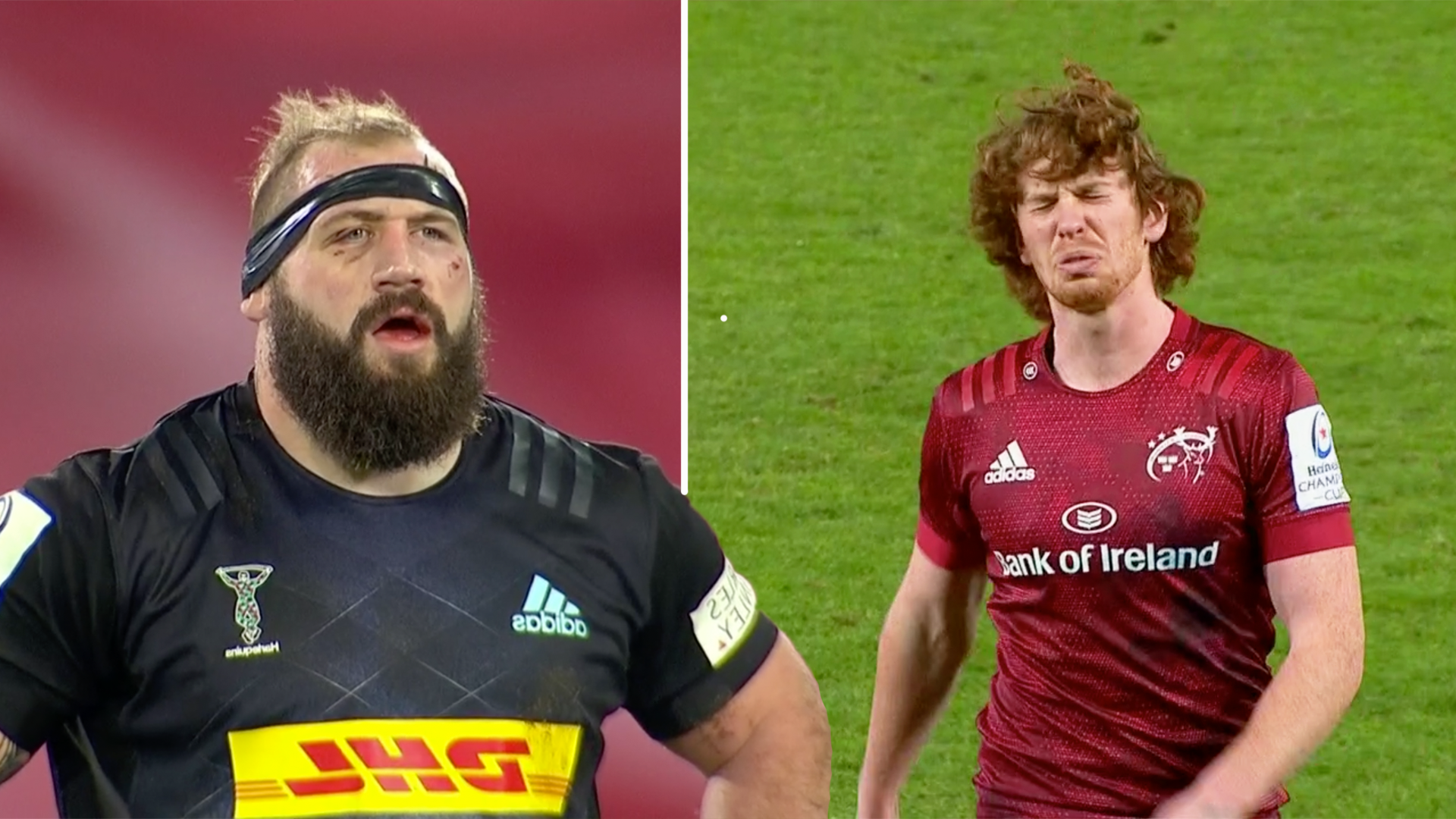 Fans disgust as Quins target and injure Munster star Ben Healy in shocking Challenge Cup scenes