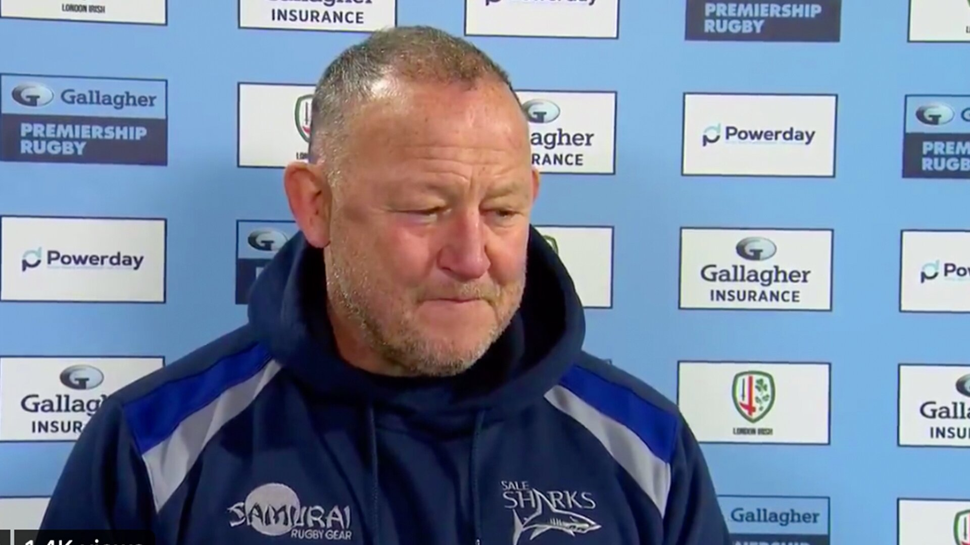 Footage of Steve Diamond and his final interview for Sale Sharks is confusing many rugby fans