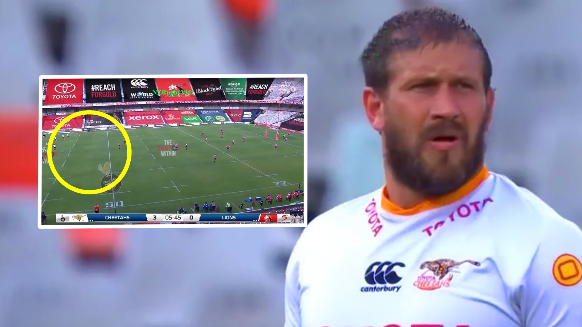 Frans Steyn has just wowed rugby fans with an incredible 70 metre strike