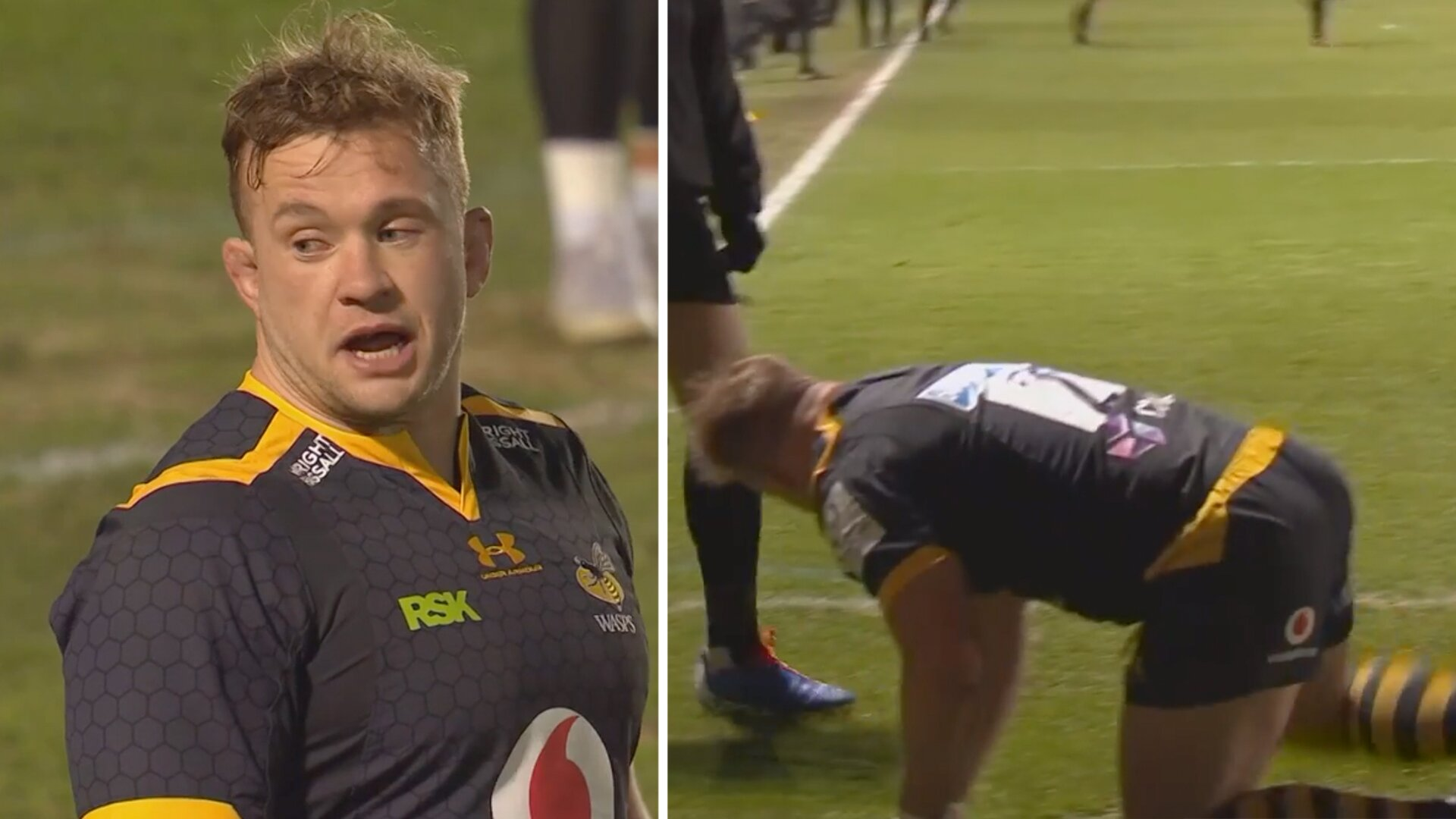 Wasps hooker receives flak on social media for his bizarre try celebration