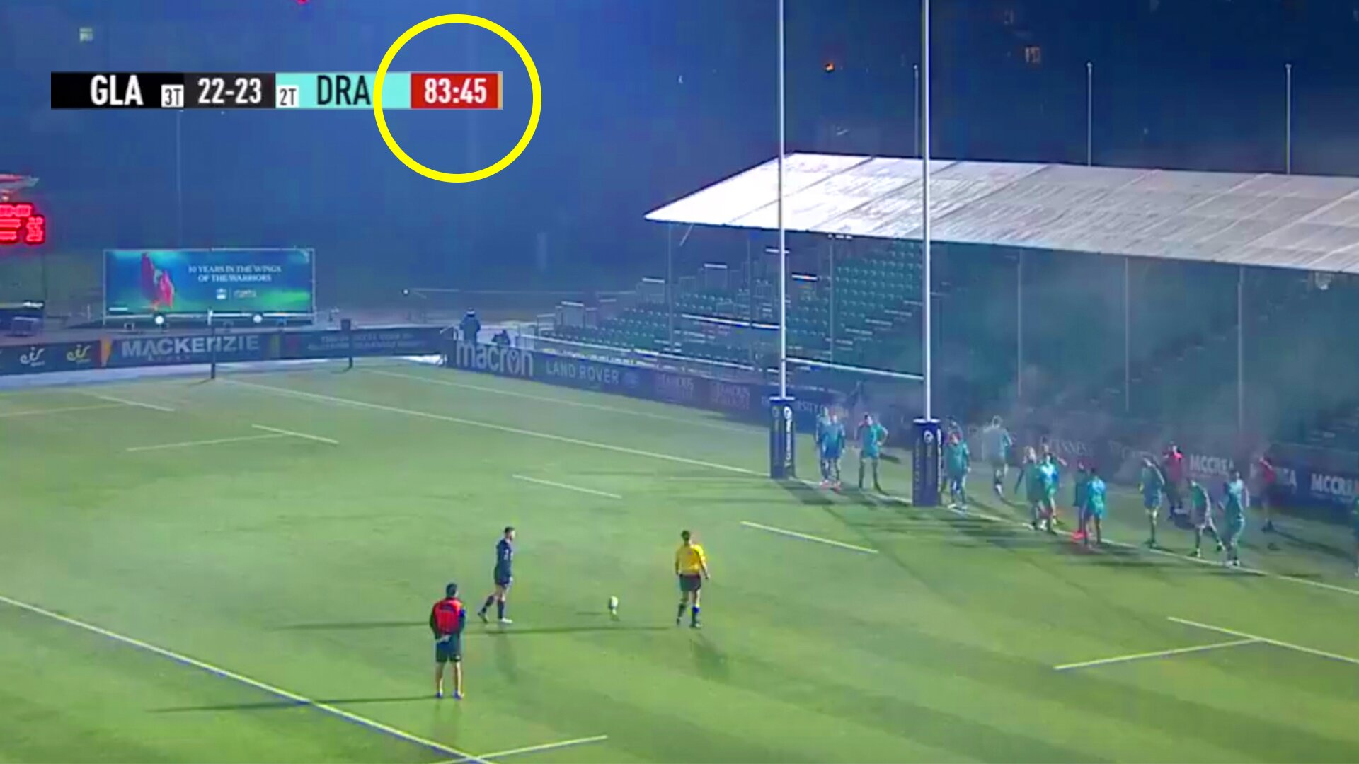 Horror in PRO 14 as player steps up to take penalty to win the match
