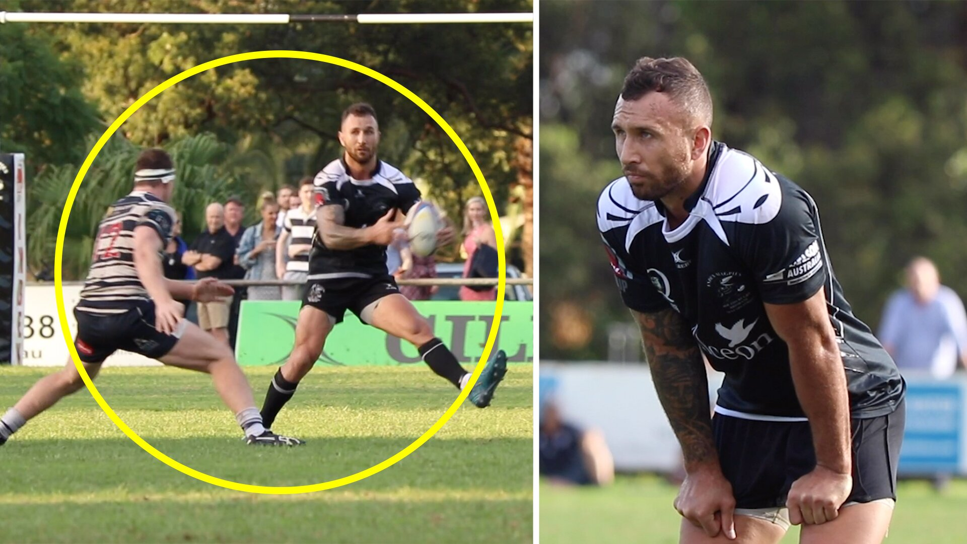 New video shows Quade Cooper playing semi-pro rugby while he was exiled from Super Rugby