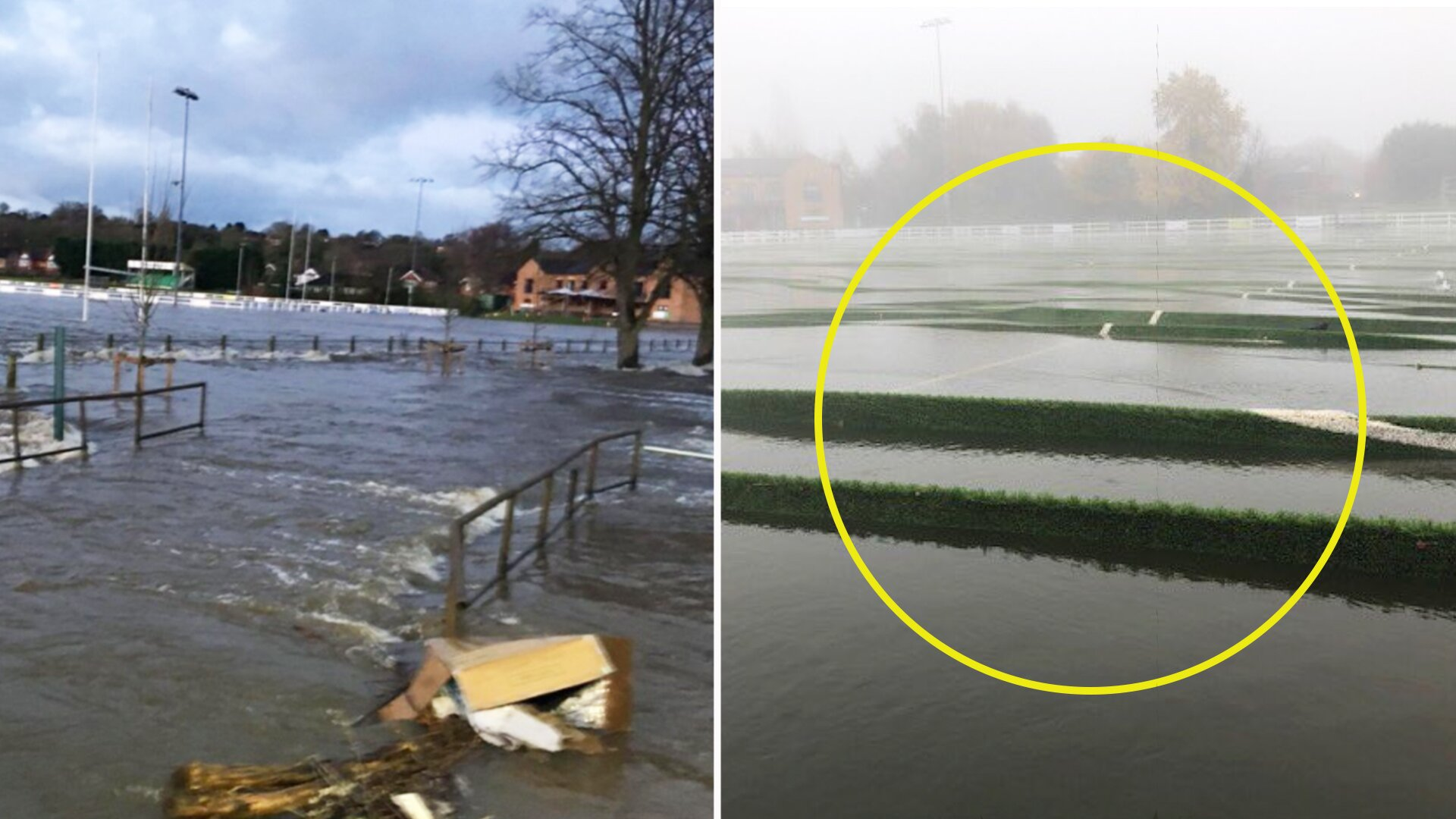 'It's one of the worst RFU investments ever' - despair as Derby RFC pitch is flooded yet again