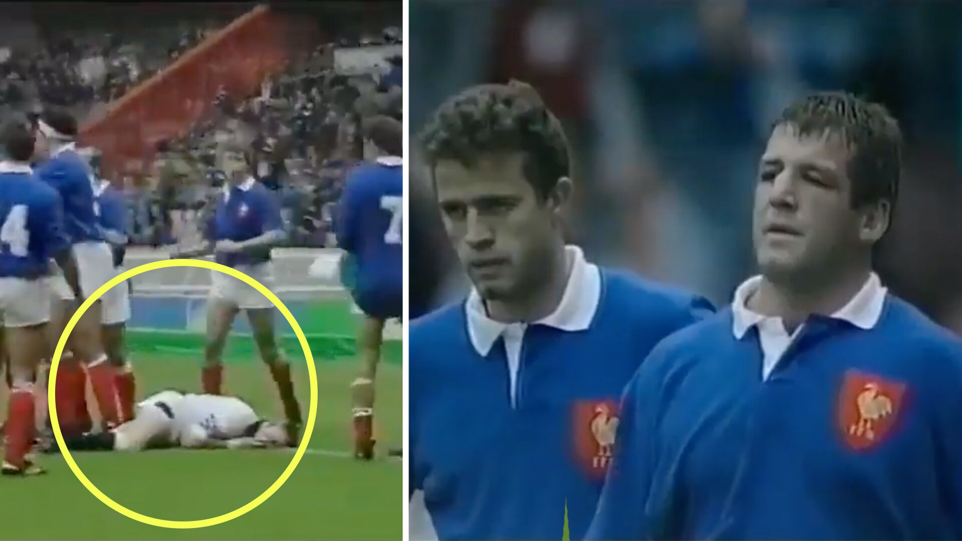 Footage from a Five Nations match between France and England reveals how brutal rugby used to be