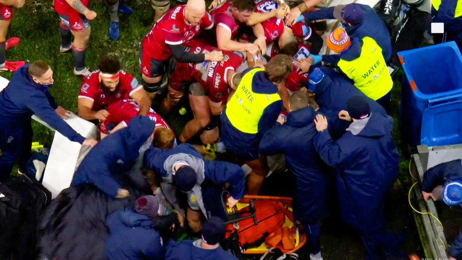 Chaos at Kingsholm as water boy sparks mass brawl in shocking Premiership scenes