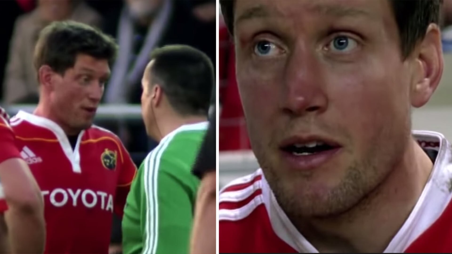 Footage shows the gut-wrenching moment Ronan O'Gara admits he should retire from rugby