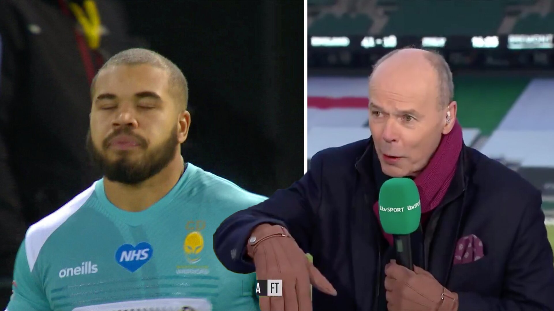 Worcester Warriors have just publicly burned Clive Woodward for his comments about Ollie Lawrence on Live TV