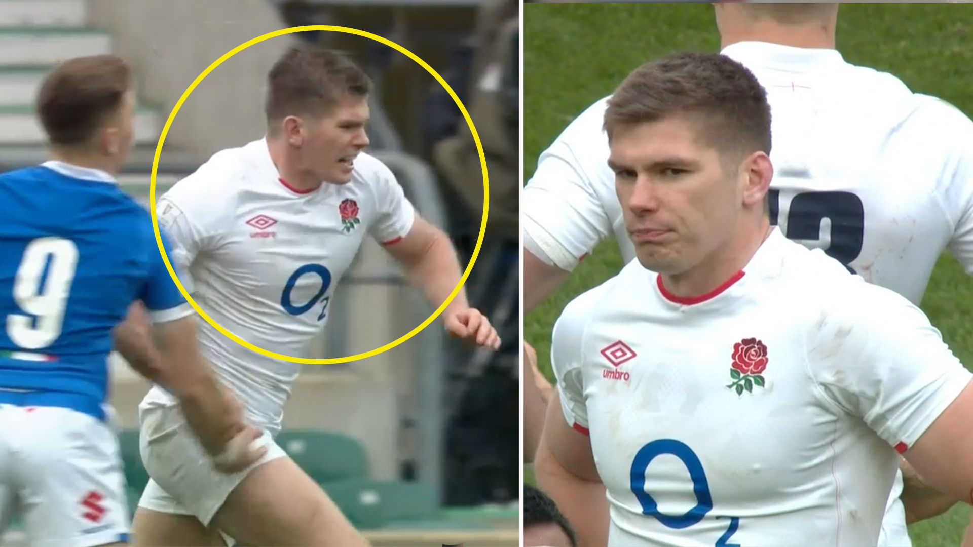 'He's a ****ing moron' - fierce social media backlash after Owen Farrell moment in England Rugby clash