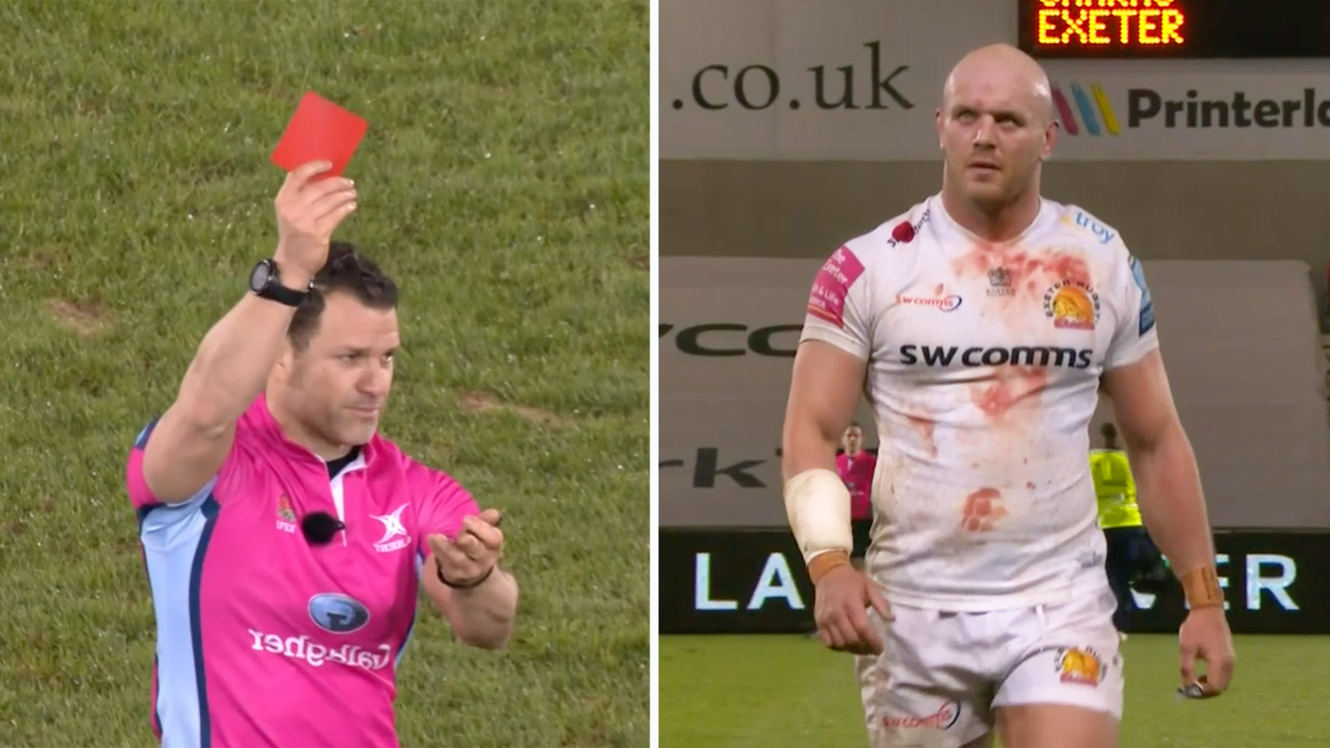 'These reds are stupid' - Jack Nowell outburst divides fans as ANOTHER red card is shown in Premiership