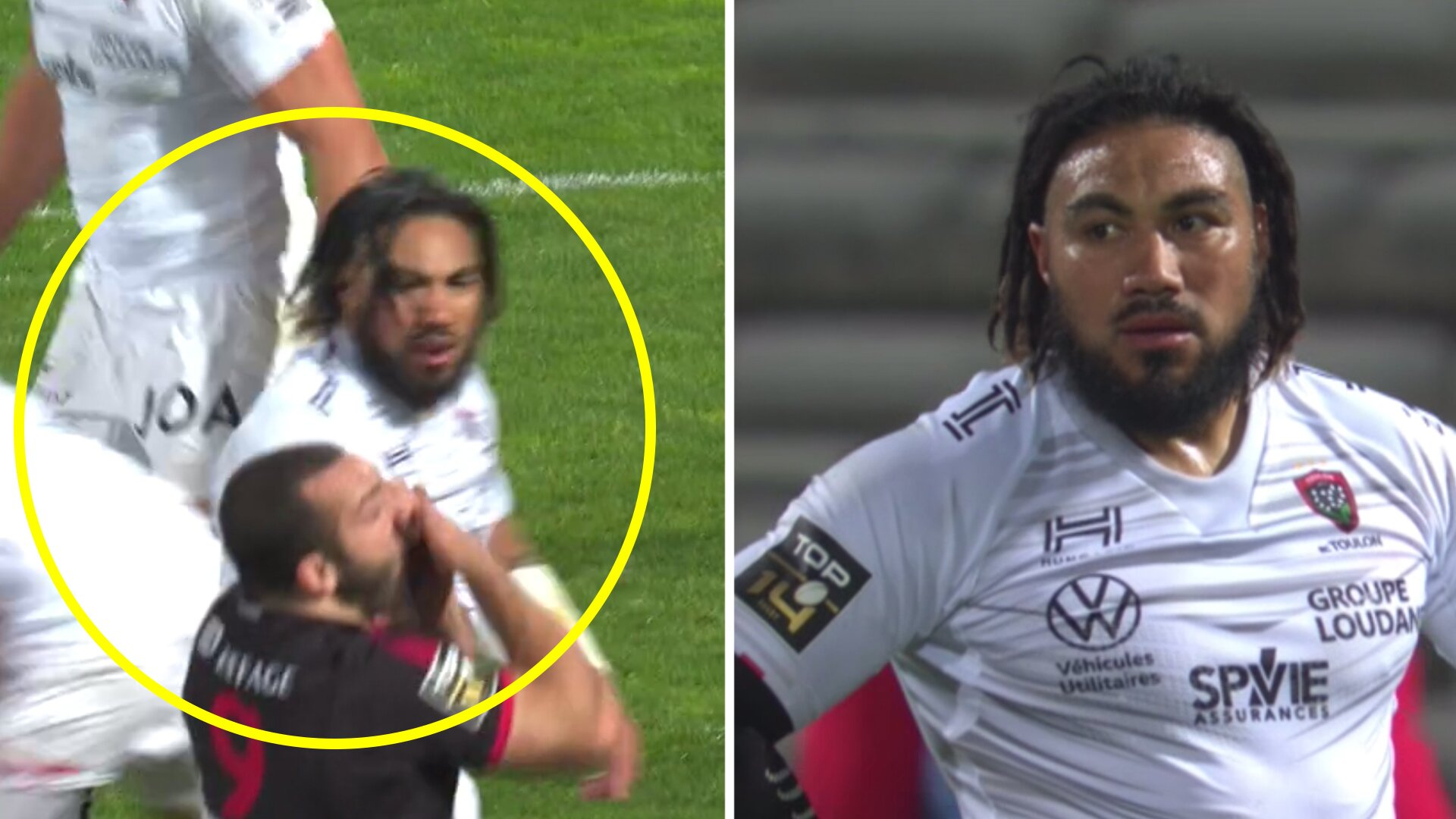 Ma'a Nonu loses control as he hits player in the face in Top 14