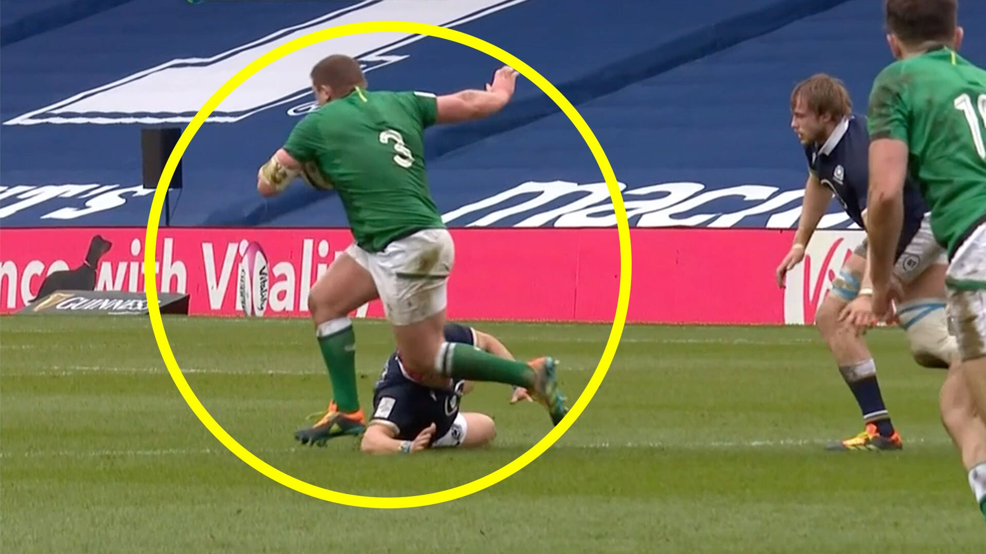 Footage of Tadhg Furlong sidestepping has broken large swathes of the internet