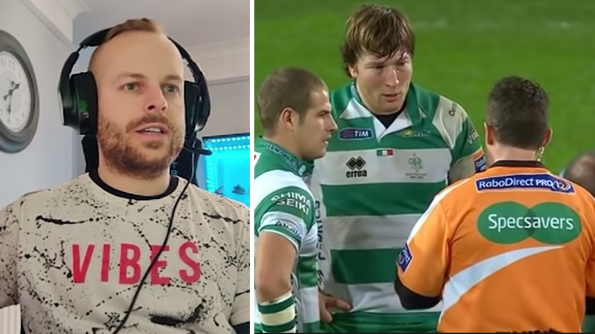Video shows football referee lost for words at respect rugby referees enjoy
