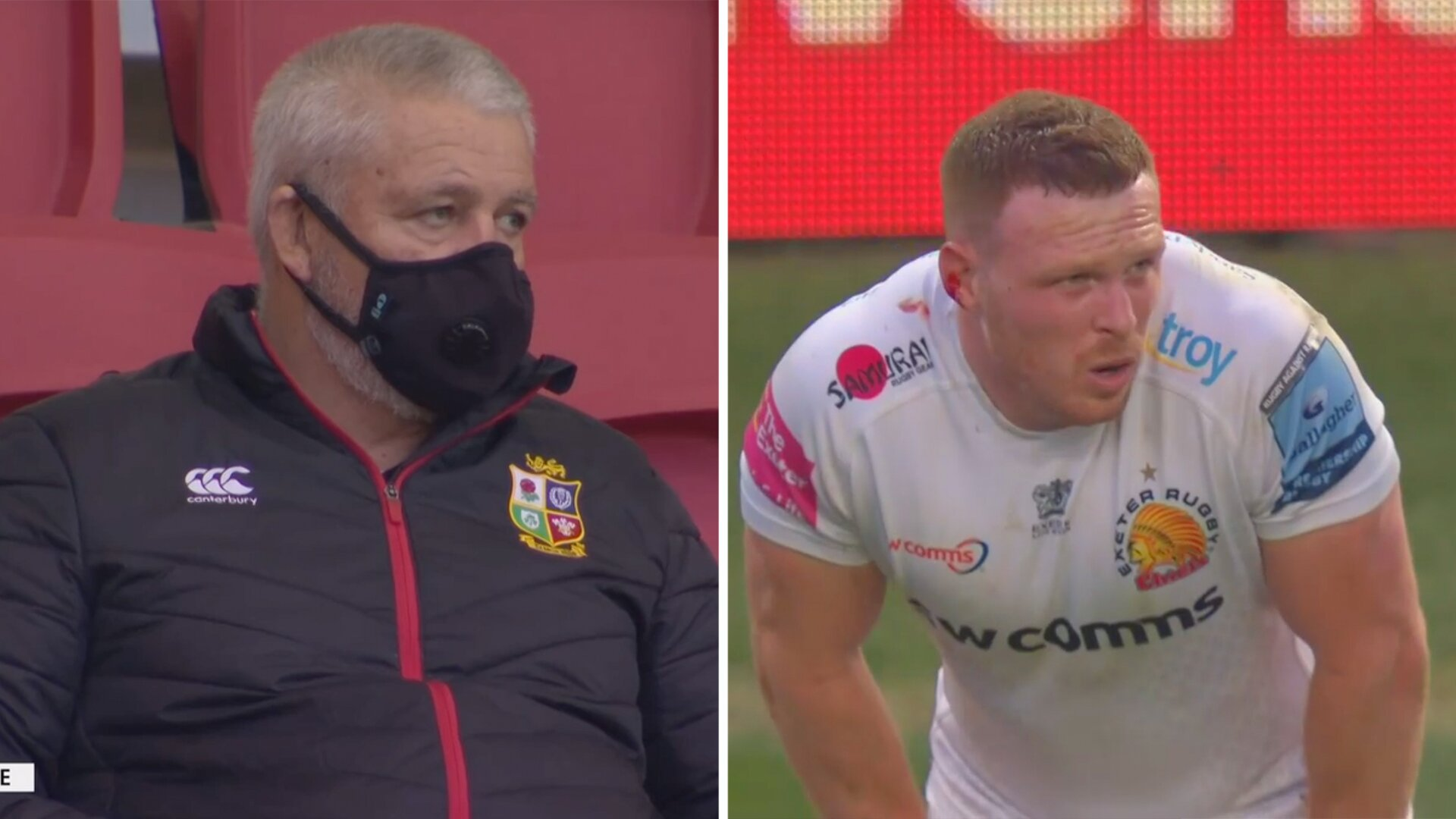 Sam Simmonds sends clear message to Lions coach Warren Gatland in middle of match