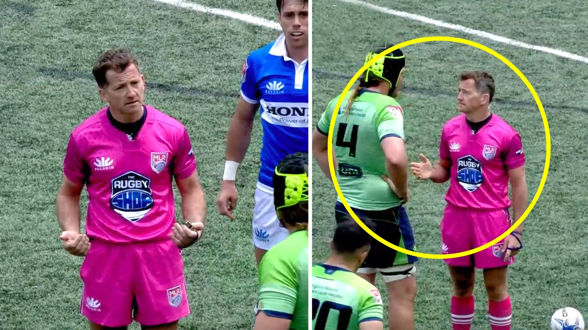 Rugby referee JP Doyle turns into alpha male on his return to refereeing in USA