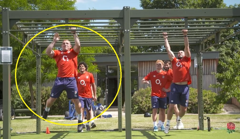 Underhill, Hill, Genge and new boys looking hench in BHS England footage