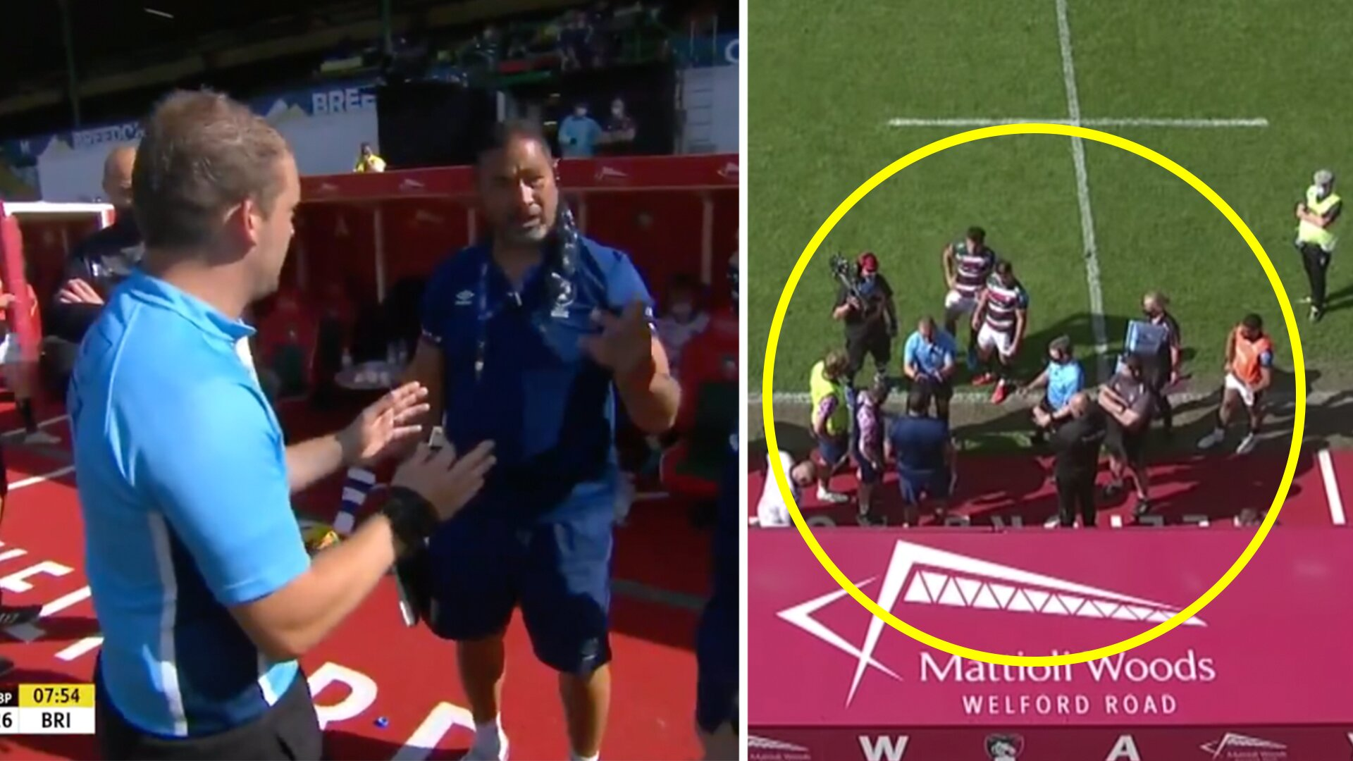 New video shows what caused the mega rugby brawl between Leicester & Bristol