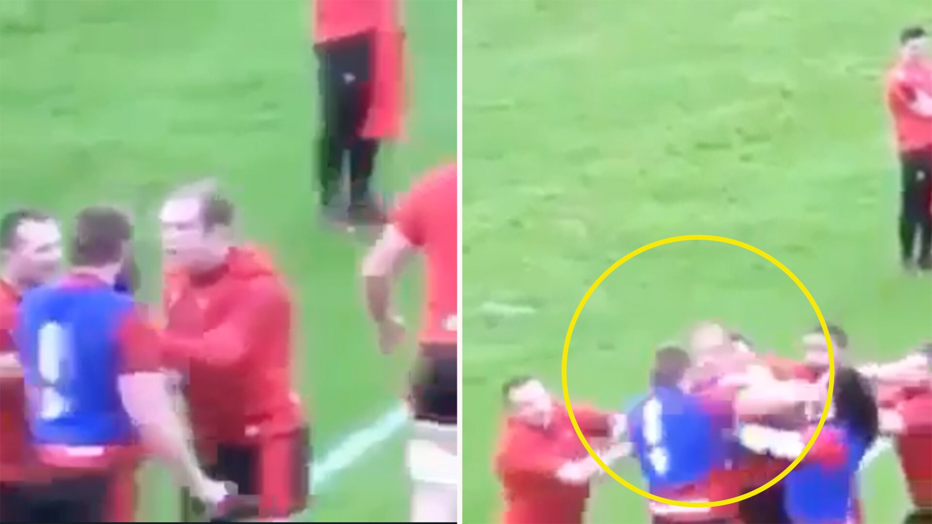 Explosive new unseen video emerges of Jake Ball and Alun Wyn Jones training ground fight