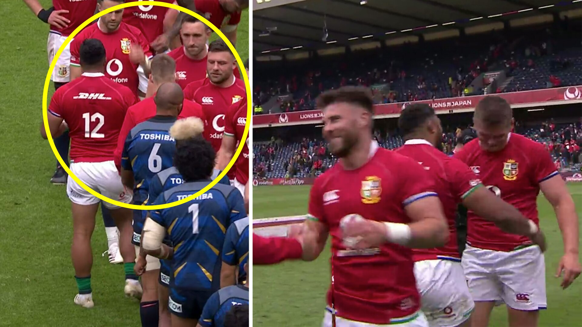Rumours of tension in Lions camp after bizarre post game incident