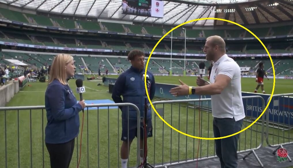 Pitchside interview goes horribly wrong as England player reveals real Haskell