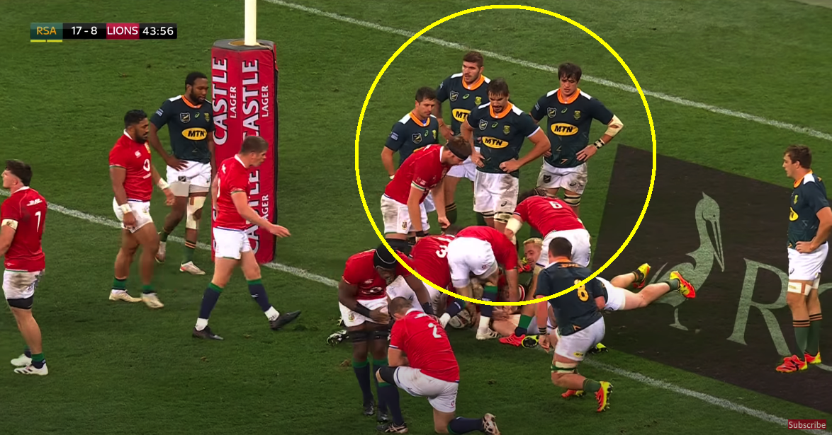 The photo that produced a collective cry of terror from the Springboks