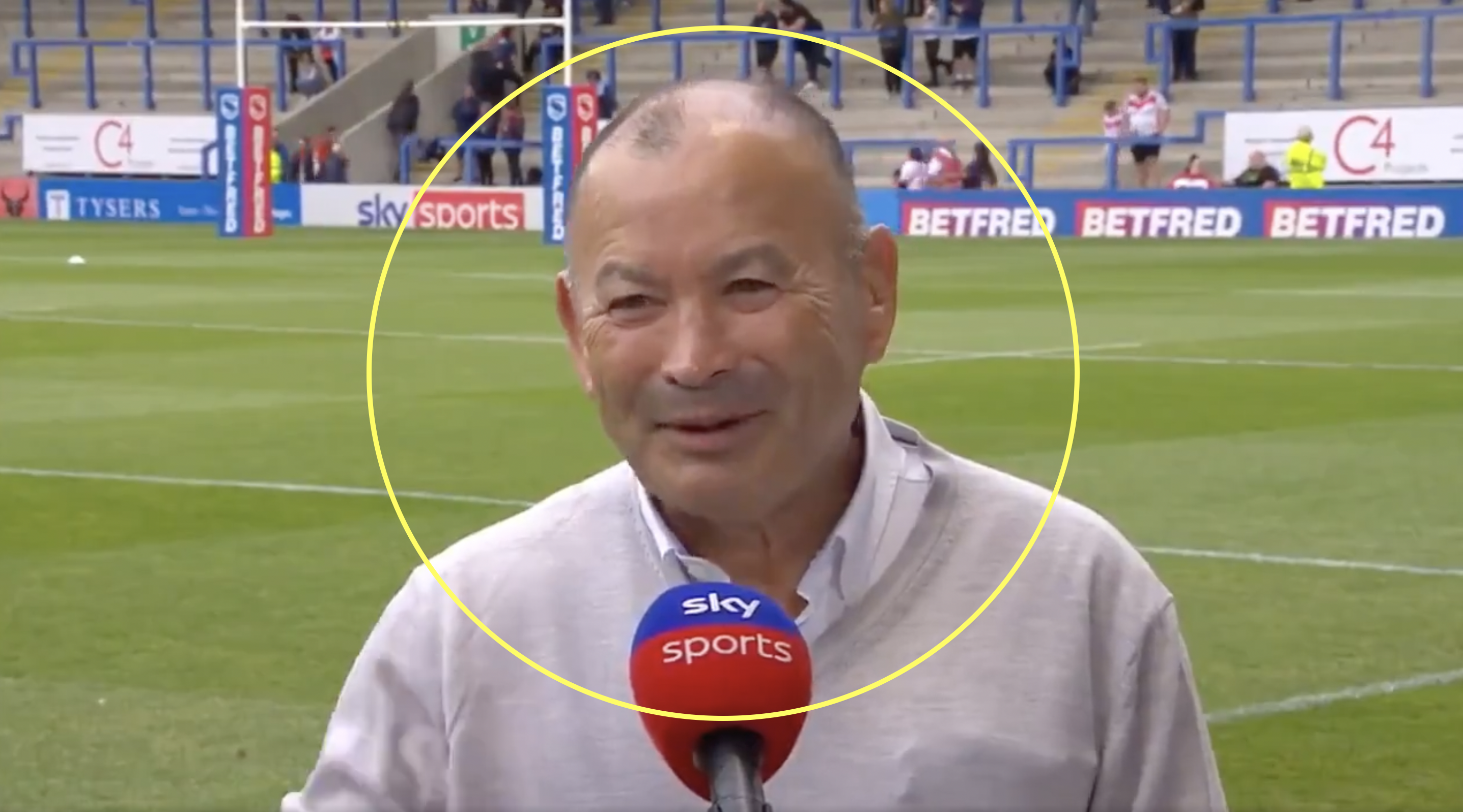 Eddie Jones put in his place while visiting rugby league match